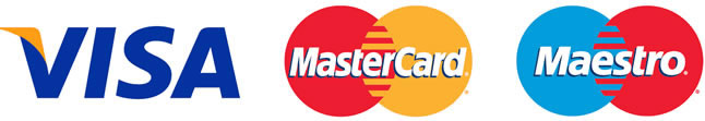 visa, master card and maestro logo